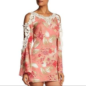 Dress the Population lily cold shoulder dress NWT